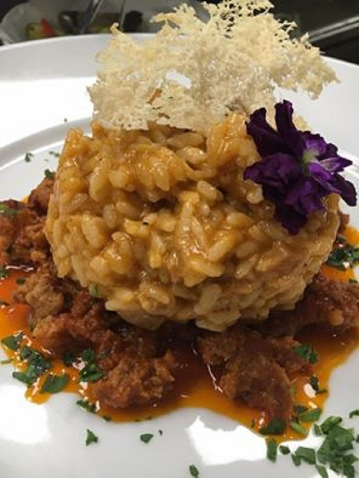 Braised beef tripe risotto